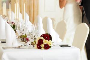 tavolo a un banchetto di nozze
