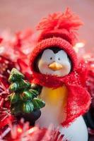 pinguino di Natale foto