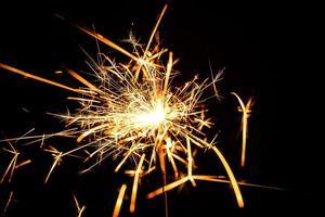 scintillante di Natale in fiamme foto