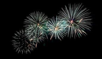 bellissimo fuoco d'artificio foto