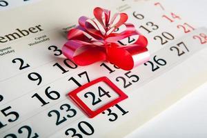 giorni di calendario con numeri da vicino foto
