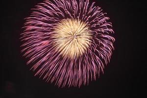 fuochi d'artificio nella notte foto