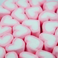 marshmallow cuore rosa
