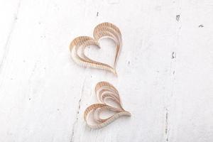 cuori di San Valentino ritaglio a forma di cuore foto