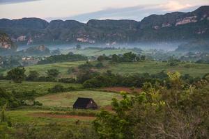 paesaggio di mogote nella valle di vinales a cuba.