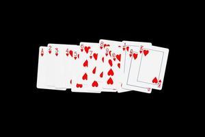 set cuore di carte da gioco