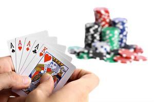 mano di poker foto