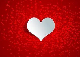 a forma di cuore su carta artigianale foto
