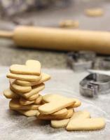 pila di biscotti del cuore
