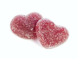 cuori di fagioli di gelatina isolati foto