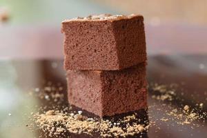 close up brownies al cioccolato fatti in casa