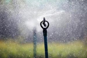 sagoma spruzzata di acqua nebulizzata foto