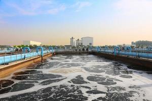 impianto di depurazione dell'acqua all'aperto