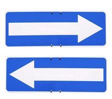 segno della freccia di direzione foto