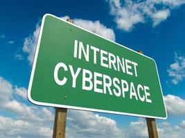 cyberspazio di Internet foto