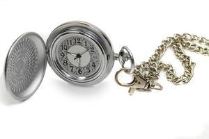 orologio da tasca con catena. foto