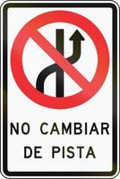 nessun cambio di corsia in Cile