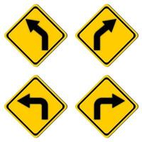 segnale stradale di avvertimento impostato