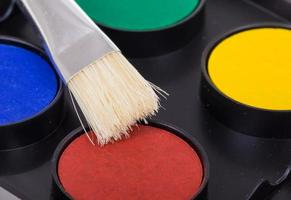 tavolozza di colori ad acqua foto