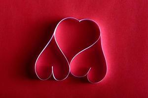 cuori di carta sfondo st. San Valentino foto