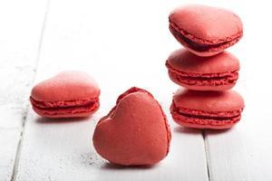 deliziosi biscotti a forma di cuore fatti a mano foto