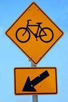 cartello stradale della bicicletta