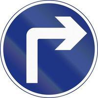 girare a destra avanti in Irlanda foto