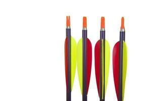 quattro punte di freccia in primo piano