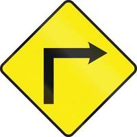 curva a destra avanti in Irlanda
