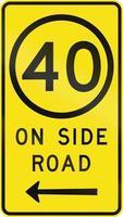 limite di velocità su strada laterale