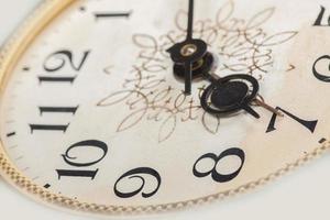 quadrante dell'orologio, macro foto