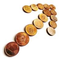 freccia di monete di denaro - euro e cent foto
