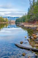 lago wenatchee in inverno