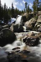 cascata nel parco nazionale delle montagne rocciose