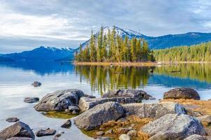 lago wenatchee in inverno foto