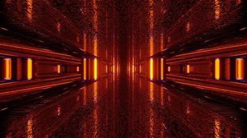 sfondo rosso scintillante multidimensionale illustrazione 3d