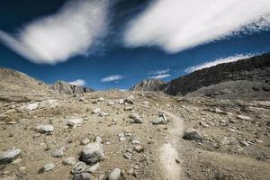 John Muir Trail nelle montagne della Sierra Nevada foto