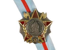 ordine di alexander nevsky sul nastro.
