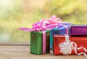 scatole regalo di natale. foto