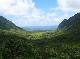 valle contro il mare, oahu, honolulu, hawaii, stati uniti d'america foto