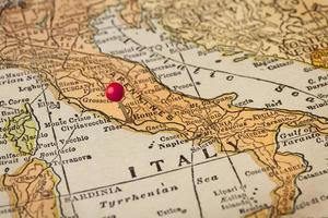 mappa vintage di roma e italia