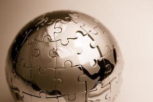 strategia globale e soluzione concetto di business, puzzle foto