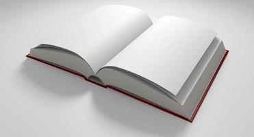 libro a pagine vuote aperto foto