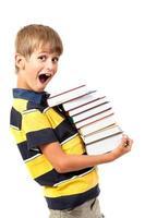 scolaro è in possesso di libri foto