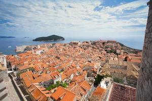 panorama di dubrovnik, croazia foto