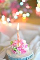 candela sul cupcake