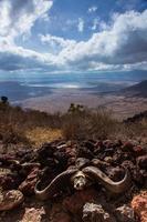 veduta africana del cratere di ngorongoro foto