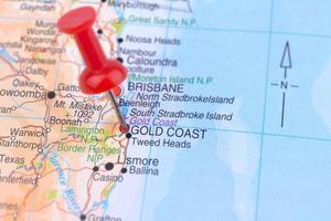 mappa della gold coast australia