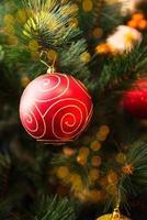 primo piano dell'albero di Natale