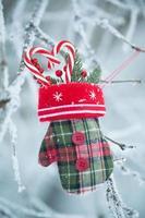 biglietto di auguri con roba natalizia